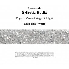 Swarovski 72036 Crystal Rock Hotfix 165x13mm Crystal Comet Argent Light - Skaidri apačia (1 vnt)