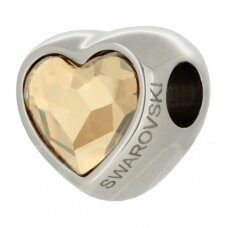 Swarovski 81951 BeCharmed Heart 14mm Crystal Golden Shadow