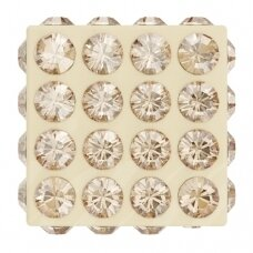 Swarovski 86401 Pavé Cube 9mm Crystal Golden Shadow