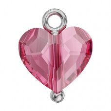 Swarovski BeCharmed Huggy Heart 10.5x8mm Rose