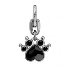 Swarovski BeCharmed Polly Paw 19x10.5mm Jet (su užsegimu)