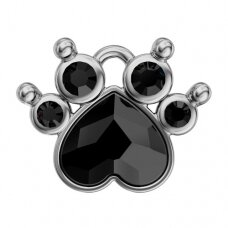 Swarovski BeCharmed Polly Paw 9x10.5mm Jet
