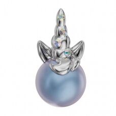 Swarovski BeCharmed Uni Unicorn 15x8mm Crystal AB, Iridescent Light Blue
