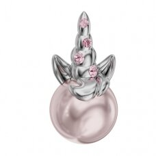 Swarovski BeCharmed Uni Unicorn 15x8mm Light Rose, Rosaline