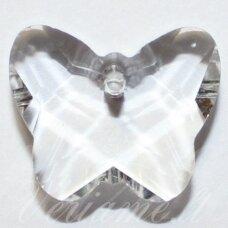 SWP0001-DRUG-14x17x7. apie 14 x 17 x 7 mm, drugelio forma, skaidrus, pakabukas, 1 vnt.