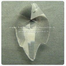 swp0001-lap-25x16x7 apie 25 x 16 x 7 mm, lapelio forma, skaidrus, pakabukas, 1 vnt.