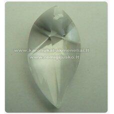 swp0001-lap2-28x15x11 apie 28 x 15 x 11 mm, lapelio forma, skaidrus, pakabukas, 1 vnt.
