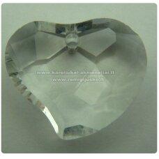 swp0001-sird-07.5x20x16 apie 7.5 x 20 x 16 mm, širdutės forma, skaidrus, pakabukas, 1 vnt.