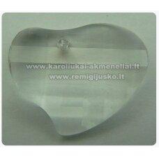 swp0001-sird-16x20x6 apie 16 x 20 x 6 mm, širdutės forma, briaunuotas, skaidrus, pakabukas, 1 vnt.