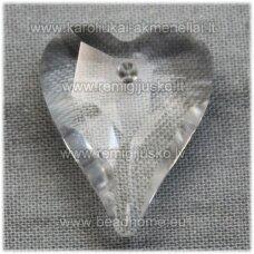 swp0001-sird-21x17x8 apie 21 x 17 x 8 mm, širdutės forma, skaidrus, pakabukas, 1 vnt.