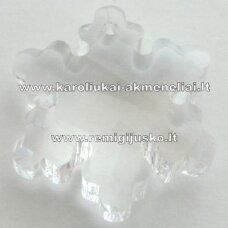 swp0001-snai-20x18x7 apie 20 x 18 x 7 mm, snaigės forma, skaidrus, pakabukas, 1 vnt.