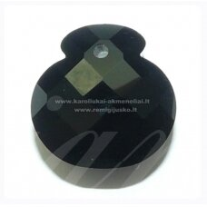 SWP0002-1KT-17x17x11 apie 17 x 17 x 11 mm, juoda spalva, pakabukas, 1 vnt.