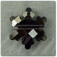 swp0002-snai-20x18x7 apie 20 x 18 x 7 mm, snaigės forma, juoda spalva, pakabukas, 1 vnt.