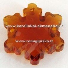 swp0007-snai-20x18x7 apie 20 x 18 x 7 mm, snaigės forma, skaidrus, tamsi, ruda spalva, pakabukas, 1 vnt.