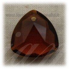 swp0007-trik-18x18x8 apie 18 x 18 x 8 mm, trikampio forma, skaidrus, tamsi, ruda spalva, 1 vnt.
