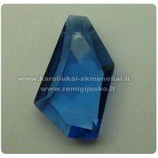 SWP0009-KIT-24x14x7 apie 24 x 14 x 7 mm, netaisyklinga forma, skaidrus, mėlyna spalva, pakabukas, 1 vnt.