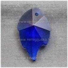 swp0010-lap-25x16x7 apie 25 x 16 x 8 mm, lapelio forma, karališko mėlynumo spalva, pakabukas, 1 vnt.