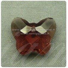 swp0014-drug-14x17x7 apie 14 x 17 x 7 mm, drugelio forma, skaidrus, alyvinė spalva, pakabukas, 1 vnt.