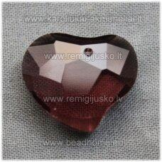 swp0015-sird-16x19x8 apie 16 x 19 x 8 mm, širdutės forma, tamsi, alyvinė spalva, pakabukas, 1 vnt.