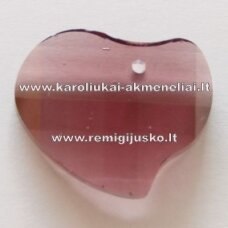 swp0015-sird-16x20x6 apie 16 x 20 x 6 mm, širdutės forma, tamsi, alyvinė spalva, pakabukas, 1 vnt.