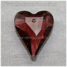 swp0015-sird-21x18x8 apie 21 x 18 x 8 mm, širdutės forma, tamsi, alyvinė spalva, pakabukas, 1 vnt.