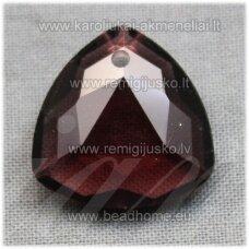 swp0015-trik-18x18x8 apie 18 x 18 x 7 mm, trikampio forma, tamsi, alyvinė spalva, pakabukas, 1 vnt.