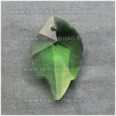 swp0016-lap-25x16x8 apie 25 x 16 x 8 mm, lapelio forma, skaidrus, žalia spalva, pakabukas, 1 vnt.