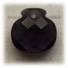 SWP0020-1KT-17x16x10 apie 17 x 16 x 10 mm, skaidrus, šviesi, violetinė spalva, pakabukas, 1 vnt.