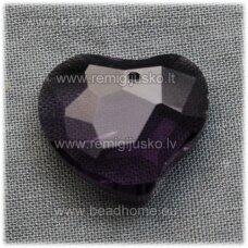 swp0020-sird-16x19x8 apie 16 x 19 x 8 mm, širdutės forma, skaidrus, šviesi, violetinė spalva, 1 vnt.