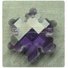 swp0020-snai-20x18x7 apie 20 x 18 x 7 mm, snaigės forma, skaidrus, šviesi, violetinė spalva, pakabukas, 1 vnt.