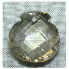 swp0024-1kt-17x17x9 apie 17 x 17 x 9 mm, skaidrus, dūmo spalva, pakabukas, 1 vnt.