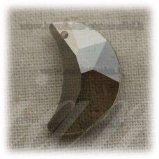 swp0024-men-17.5x11x6 apie 17.5 x 11 x 6 mm, mėnulio forma, skaidrus, dūmo spalva, pakabukas, 1 vnt.