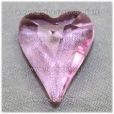 swp0028-sird-21x18x8 apie 21 x 18 x 8 mm, širdutės forma, skaidrus, rožinė spalva, pakabukas, 1 vnt.