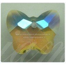 swp0029-drug-14x17x7 apie 14 x 17 x 7 mm, drugelio forma, skaidrus, ab danga, pakabukas, 1 vnt.