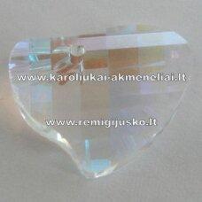 swp0029-sird-16x20x6 apie 16 x 20 x 6 mm, širdutės forma, skaidrus, ab danga, pakabukas, 1 vnt.