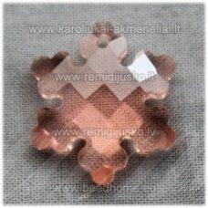 swp0036-snai-20x18x7 apie 20 x 18 x 7 mm, snaigės forma, skaidrus, persikinė spalva, pakabukas, 1 vnt.