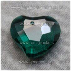 swp0041-sird-16x19x8 apie 16 x 19 x 8 mm, širdutės forma, skaidrus, elektrinė spalva, pakabukas, 1 vnt.