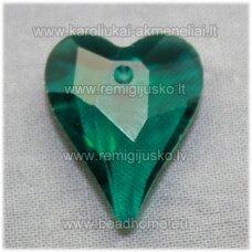 swp0041-sird-21x18x8 apie 21 x 18 x 8 mm, širdutės forma, skaidrus, elektrinė spalva, pakabukas, 1 vnt.