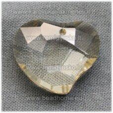 swp0124-sird-16x19x8 apie 16 x 19 x 8 mm, širdutės forma, skaidrus, šviesi, topazo spalva, pakabukas, 1 vnt.