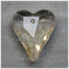 swp0124-sird-21x18x8 apie 21 x 18 x 8 mm, širdutės forma, skaidrus, šviesi, topazo spalva, pakabukas, 1 vnt.