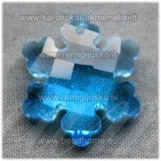 swp0138-snai-20x18x7 apie 20 x 18 x 7 mm, snaigės forma, skaidrus, žydra spalva, 1 vnt.