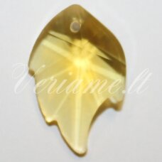 SWP0141-LAP-24x16x8 apie 24 x 16 x 8 mm, lapelio forma, briaunuotas, skaidrus, geltona spalva, pakabukas, 1 vnt.