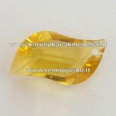 swp0141-lap-25x16x7 apie 25 x 16 x 7 mm, lapelio forma, geltona spalva, pakabukas, 1 vnt.
