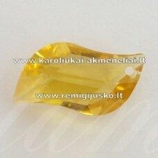 swp0141-s-24x12x8 apie 24 x 12 x 8 mm, s forma, geltona spalva, pakabukas, 1 vnt.