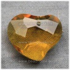 swp0141-sird-16x19x8 apie 16 x 19 x 8 mm, širdutės forma, geltona spalva, pakabukas, 1 vnt.