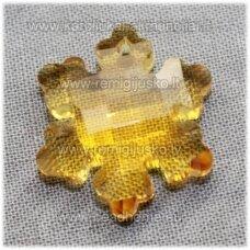 swp0141-snai-20x18x7 apie 20 x 18 x 7 mm, snaigės forma, skaidrus, geltona spalva, 1 vnt.
