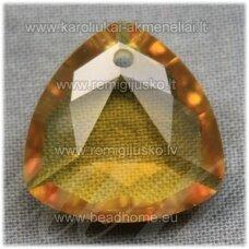 swp0141-trik-18x18x8 apie 18 x 18 x 8 mm, trikampio forma, skaidrus, geltona spalva, 1 vnt.