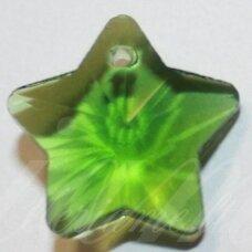 SWP0150 apie 13 x 13 x 7 mm, žvaigždės forma, skaidrus, žalia spalva, pakabukas, 1 vnt.