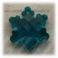 swp0156-snai-20x18x7 apie 20 x 18 x 7 mm, snaigės forma, skaidrus, elektrinė spalva, pakabukas, 1 vnt.