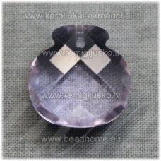 SWP0184-1KT-17x16x10 apie 17 x 16 x 10 mm, briaunuotas, melsva spalva, pakabukas, 1 vnt.